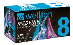 Голки Wellion MEDFINE plus 8 mm