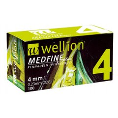 Иглы Wellion MEDFINE plus 4mm