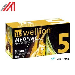 Иглы Wellion MEDFINE plus - 5mm