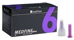 Иголки Wellion MEDFINE plus 6 мм
